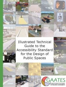 Cover page for document titled Illustrated Technical Guide to the Accessibility Standard for the Design of Public Spaces