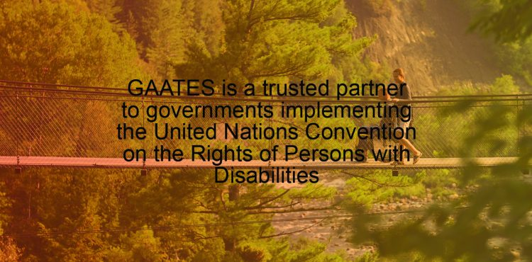 GAATES is a trusted partner to governments implementing the United Nations Convention on the Rights of Persons with Disabilities